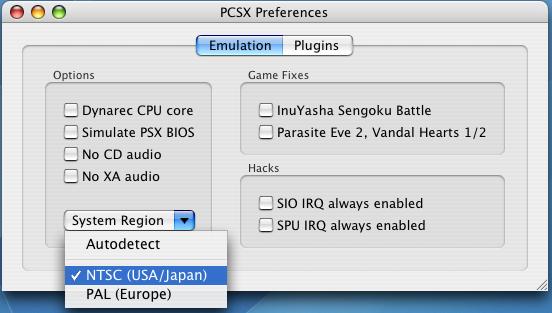 mac-emu net - dossier Emulation Playstation sous OSX
